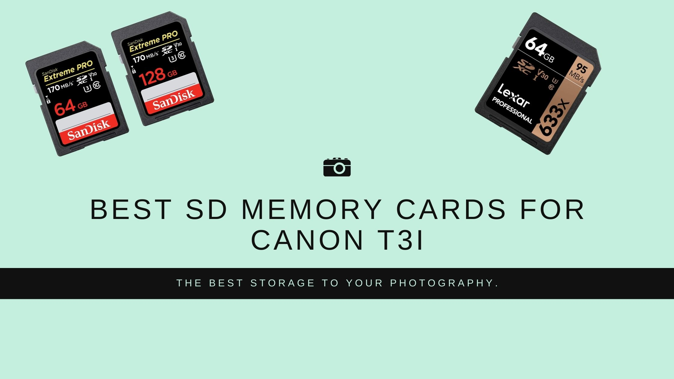 Best Sd Memory Cards for Canon t3i