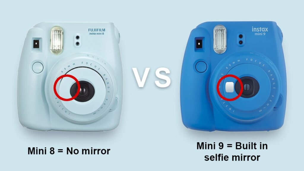 Mini 9 has a selfie mirror which is not found in Mini 8