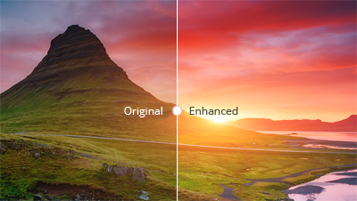 Difference between Original and Enhanced quality