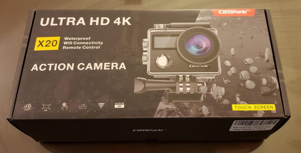Campark X20 Review: Box
