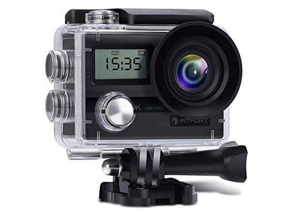 Fitfort 4K UHD 16MP Action-Cam with Wi-Fi