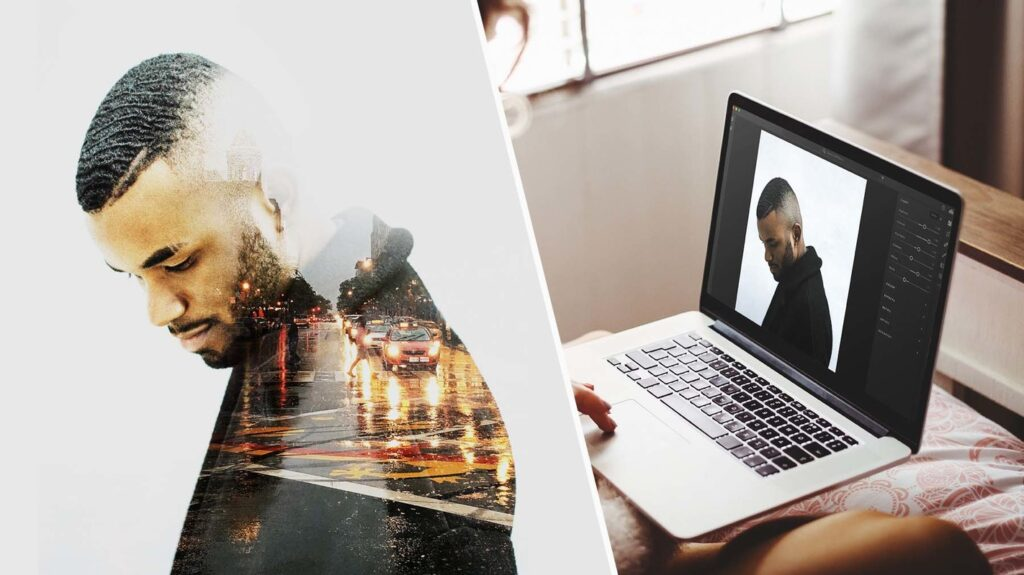 Software Applications such as Adobe Photoshop and Lightroom can be used to edit pictures, even together